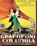 Grafofoni Columbia, Milano Stretched Canvas Print
