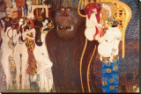 The Hostile Force, c.1902 Stretched Canvas Print by Gustav Klimt