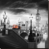 London Bus III Stretched Canvas Print by Jurek Nems
