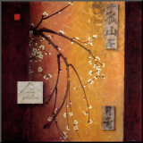 Oriental Blossoms II Mounted Print by Don Li-Leger