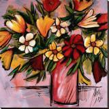Vivid Bouquet Stretched Canvas Print by Domenico Provenzano