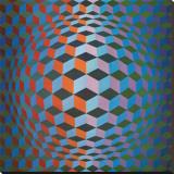Squares Leinwand von Victor Vasarely