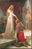 The Accolade Stretched Canvas Print by Edmund Blair Leighton