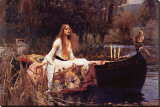 Lady of Shalott Stretched Canvas Print by John William Waterhouse