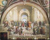 École d'Athènes Reproduction sur toile tendue par  Raphael