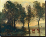 L'Etang, c.1796-1875 Stretched Canvas Print by Jean-Baptiste-Camille Corot