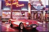 Corvette 1958 Stretched Canvas Print