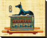 Anubis the God of Dead Stretched Canvas Print