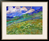 Wheatfield and Mountains, c.1889 Framed Giclee Print by Vincent van Gogh