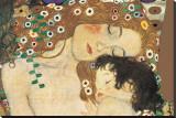 Madre e hija (detalle de Las tres edades de la mujer), ca.1905 Reproducción en lienzo de la lámina por Gustav Klimt