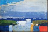 Pejzaż w południe (Noon Landscape) Płótno naciągnięte na blejtram - reprodukcja autor Nicolas De Staël