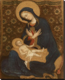 Madonna col Bambino, c.1370-1428 Stretched Canvas Print by  Gentile Da Fabriano