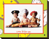 Little Grown-Ups Reproduction transférée sur toile par Tom Arma