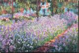 Le jardin de l'artiste à Giverny, vers 1900 Reproduction transférée sur toile par Claude Monet