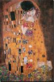 De kus, ca. 1907 (detail) Kunst op gespannen canvas van Gustav Klimt
