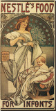 Nestle's Food for Infants Stretched Canvas Print by Alphonse Mucha