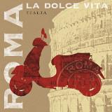 Rollerfahren in Rom, Italienisch Poster von Sue Schlabach