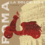 Motoring in Rome Posters by Sue Schlabach