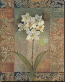 Orchids Tapestry Stretched Canvas Print by Louise Montillio