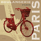 Cycling in Paris Posters by Sue Schlabach