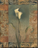 Lily Tapestry Stretched Canvas Print by Louise Montillio