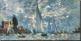 Regatta i Argenteuil Trykk på strukket lerret av Claude Monet