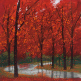 Autumn Stream Print by Lynn Krause