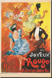 Au Joyeux Moulin Rouge Stretched Canvas Print