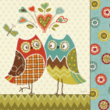 Owl Wonderful II Poster van Lisa Audit