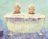 Frau beim Waschen Kunst von Rebecca Kinkead