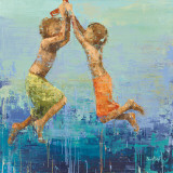 Rope Swing No. 2 Poster by Becky Kinkead
