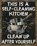Self Cleaning Kitchen Affiches par Pela