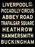 London Sign Giclee Print