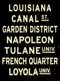 New Orleans Sign Reproduction proc&#233;d&#233; gicl&#233;e
