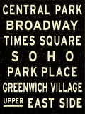 New York City Sign Posters