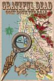 Grateful Dead Map Poster