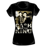 Juniors: Johnny Cash - Cash and The King Ladies T-Shirt