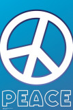 Peace Sign Blue Posters