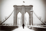 Brooklyn Bridge Winter Kunstdrucke