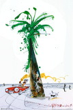 Hunter Driving By Palm - Ralph Steadman Print