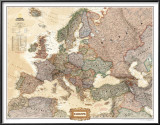 Europe Political Map, Executive Style Prints