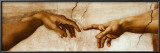 The Creation of Adam, c.1510 (detail) Posters by Michelangelo Buonarroti