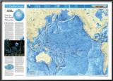 Pacific Ocean Floor Map Poster