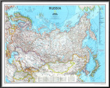 Map of Russia Poster