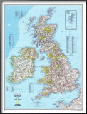 Map of Britain And Ireland Posters
