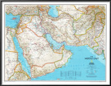 Map of Afghanistan, Pakistan and the Middle East Photo