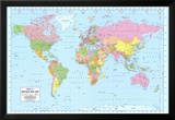 Politische Weltkarte Kunstdrucke
