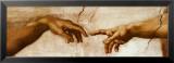 Adams skapelse, ca 1510 (detalj) Posters av Michelangelo Buonarroti,