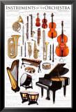Instrumente des Symphonieorchesters Foto