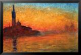 Monet-Dusk Venice Poster